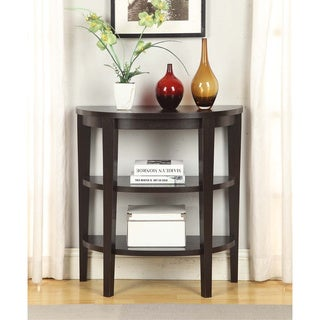 Convenience Concepts Newport Wood 3-shelf Console Table