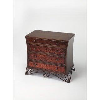 Butler Nicola Brown Wood Metal Console Chest