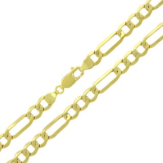 10k Gold 6.5mm Hollow Figaro Link Chain