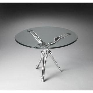 Handmade Butler Blissful Metal Aluminum/Glass Modern End Table (India)