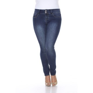 White Mark Women's Plus Size Super Stretch Denim Jeans
