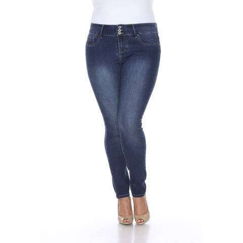 White Mark Women's Plus Size Super Stretch Denim Jean