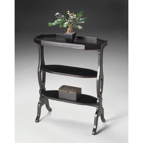 Handmade Butler Hadley Black Wood End Table