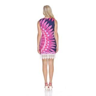 White Mark Women's Kaia Polyester and Spandex Dress