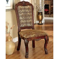 Furniture of America Elantia Traditional Cherry Dining Chair (Set of 2)