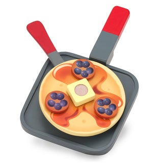 Melissa & Doug Wooden Flip & Serve Pancake Set
