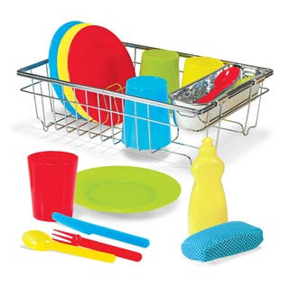 Melissa & Doug Let's Play House! Wash & Dry Dish Set|https://ak1.ostkcdn.com/images/products/12070474/P18938361.jpg?impolicy=medium