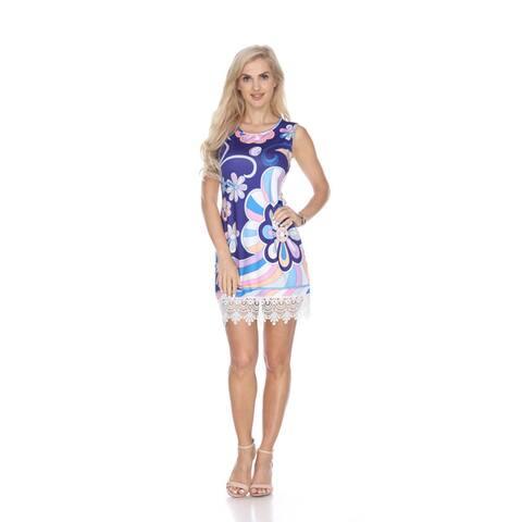 White Mark Women's 'Grecia' Multicolor Tunic Dress