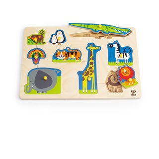 Hape Wild Animals Wood Peg Puzzle