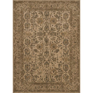 Traditional Dark Beige Classic Floral Area Rug - 12' x 15'