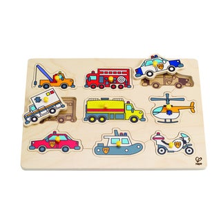 Hape Emergency Vehicles Peg Puzzle
