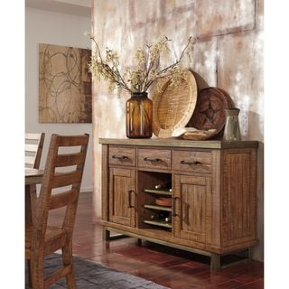 Signature Design by Ashley Dondie Brown Dining Room Server