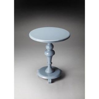 Butler Nicolet Glossy Wedgewood Wood Pedestal Table