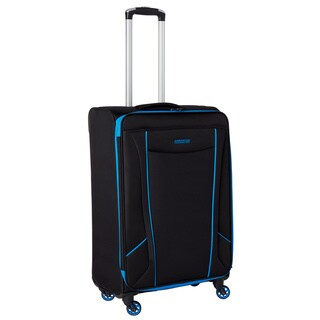American Tourister by Samsonite Skylite Black/Blue 25-inch Spinner Upright Suitcase