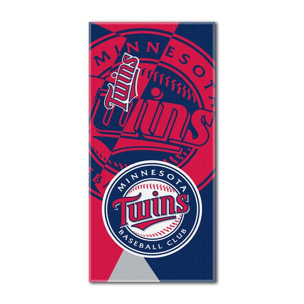 MLB 622 Twins Puzzle Beach Towel