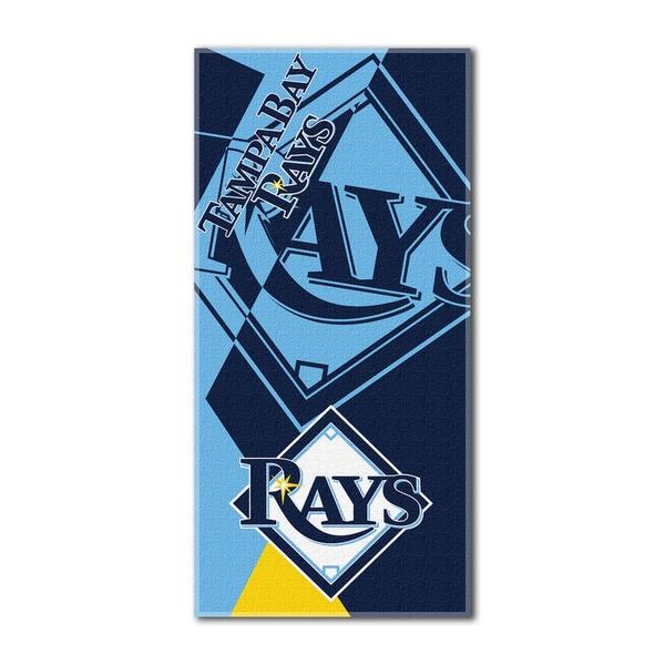MLB 622 Rays Puzzle Beach Towel