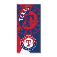 MLB 622 Rangers Puzzle Beach Towel
