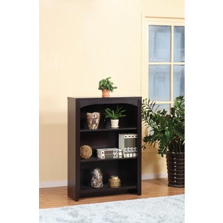 Espresso Three-shelf Bookcase