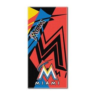 MLB 622 Marlins Puzzle Beach Towel