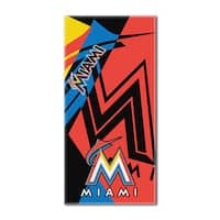 MLB 622 Marlins Puzzle Beach Towel
