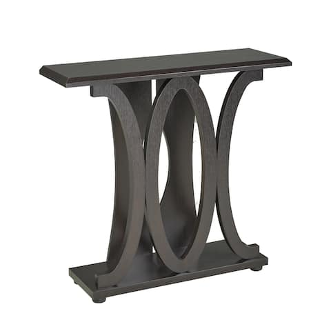 Valentina Brown Cherry Finish MDF Console Table