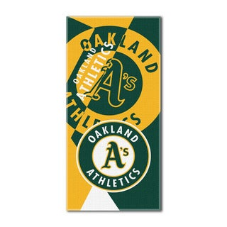 MLB 622 Athletics Puzzle Beach Towel