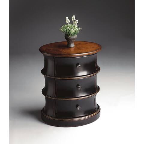 Butler Margot Cafe Noir Wood Oval Drum Table