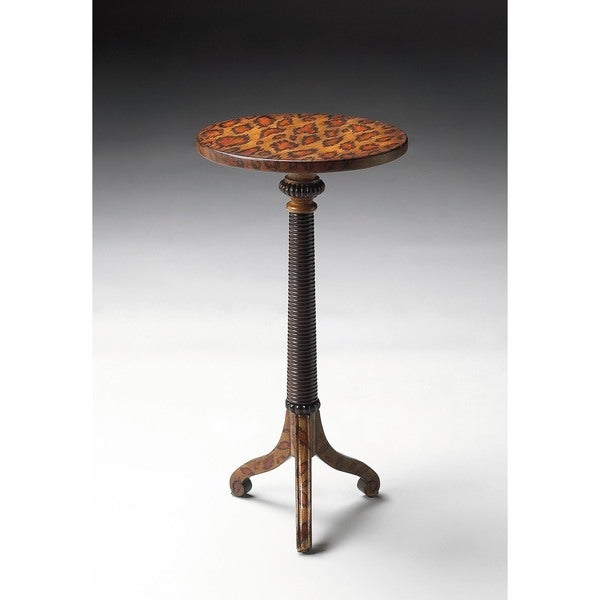 Butler Florence Leopard Spots Painted Pedestal Table