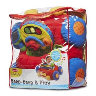 Melissa & Doug Beep-Beep & Play Activity Center Baby Toy - Red/blue