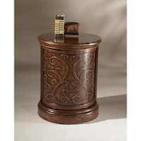 Butler Heritage Brown Wood Drum Table