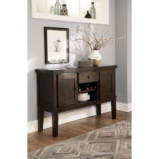 Signature Design by Ashley Haddigan Dark Brown Dining Room Server