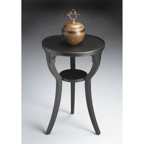 Handmade Butler Dalton Black Licorice Round End Table