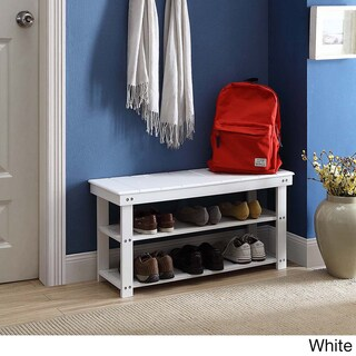 Porch & Den Bywater Surekote Mudroom Shoe Storage Bench (5 options available)