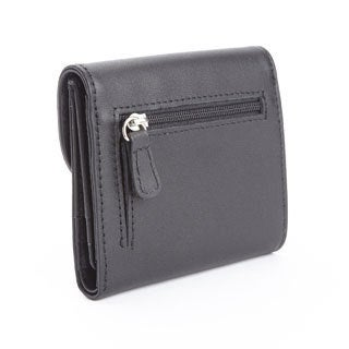 Royce Leather Women's Genuine Leather RFID-blocking Compact Trifold Wallet