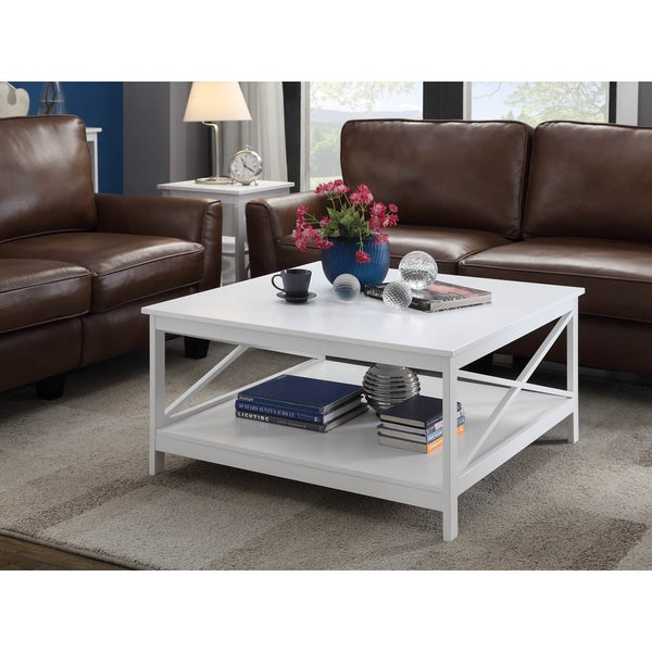 Convenience concepts oxford 36 inch square coffee table for 36 inch square coffee table