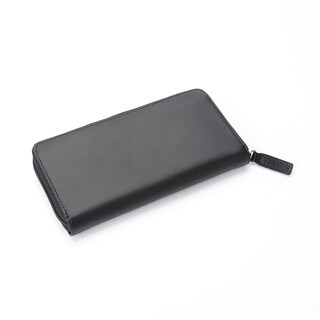 Royce Leather Black Genuine Leather RFID-blocking Continental Handcrafted Clutch Wallet