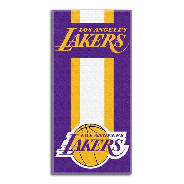 NBA 720 Lakers Zone Read Beach Towel