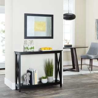 Rectangular Criss-cross Entryway Console Table