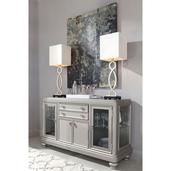 Shop Signature Design By Ashley Coralayne Silver Dining Room Server