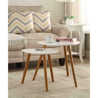 nesting end tables living room. Convenience Concepts Oslo Nesting End Table Set Tables Living Room Furniture For Less  Overstock com