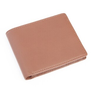 Royce Leather Nappa RFID-blocking Men's Bifold Wallet with Double ID Display