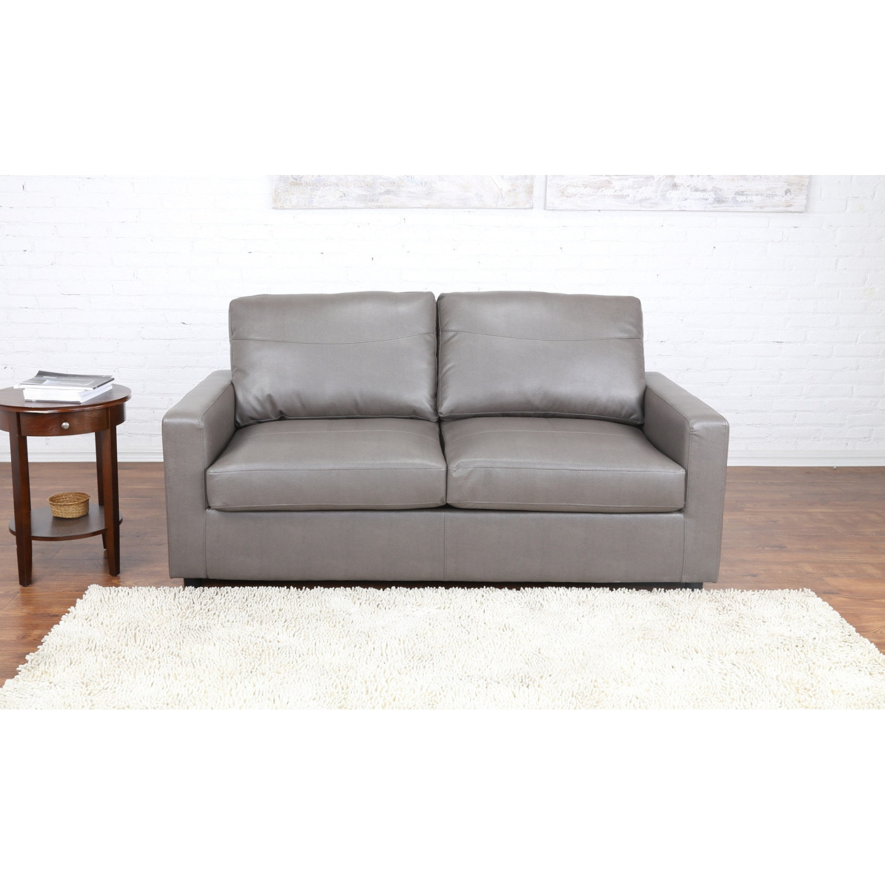 Madison Bonded Leather Sleeper / Pull Out Sofa and Bed (B...