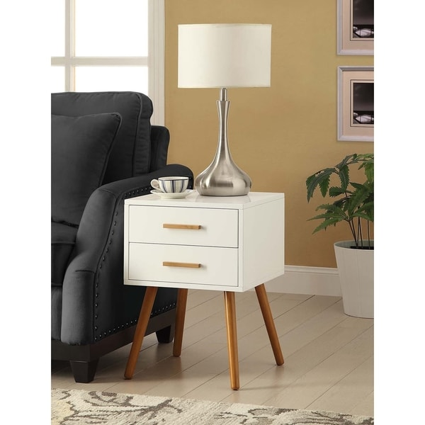 Convenience Concepts Oslo Two Drawer End Table Free