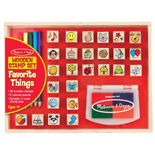 Melissa & Doug Wooden Favorite Things Stamp Set