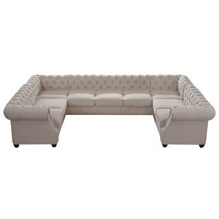 Moser Bay Furniture Roll Arm 9 Seat Sectional Sofa Set