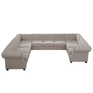 Moser Bay Furniture Garcia Roll Arm 10-seat U Sectional Sofa Collection