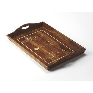 Butler Buona Wood and Bone Inlay Serving Tray