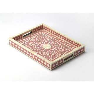 Butler Vivienne Pink Bone Inlay Serving Tray