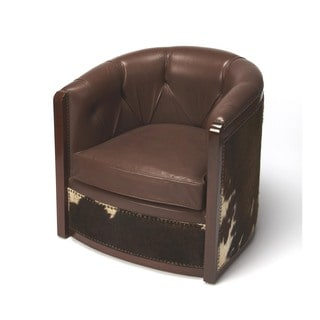 Butler Wyatt Leather and Hair-on-hide Tub Chair