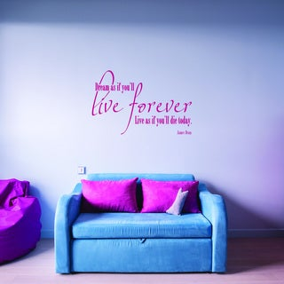 Style and Apply 'Live Forever ' Quotes and Sayings Vinyl Decal Sticker Mural Art Home Decor